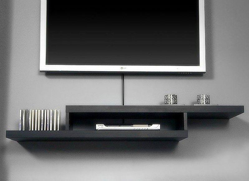 Полки под телевизор на стене